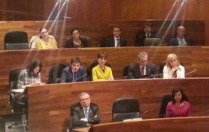 El Grupo Parlamentario Popular, en el Pleno.