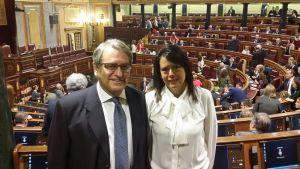 Ramón García Cañal y Susana López Ares, en el Congreso de los Diputados.