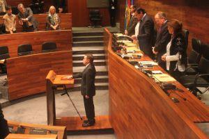 Rafael Alonso, en la Junta General del Principado.