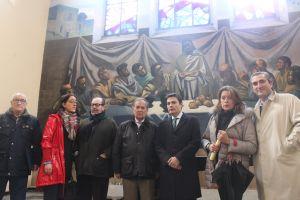 Pedro de Rueda, en la capilla de La Cadellada.