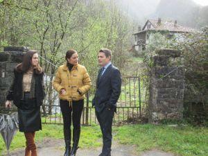 Salom� Garc�a, Marif� G�mez y Pedro de Rueda, en Covadonga.