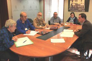 David Gonz�lez Medina, con los representantes sindicales de la educaci�n concertada.