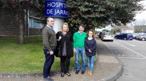 Carlos Su�rez, en el Hospital de Jarrio.
