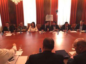 Susana L�pez Ares, en la reuni�n en el Congreso.