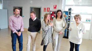 Susana L�pez Ares, en la visita al CAI de Cocemfe.