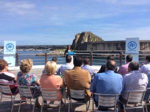 Carmen Pérez García de la Mata, durante la presentación del proyecto de Ley en el puerto de Cudillero.