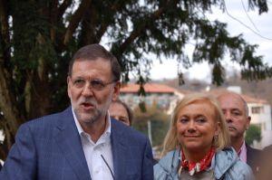 Mercedes Fernández, junto a Mariano Rajoy.