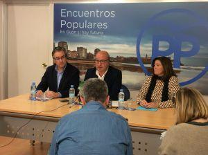 Luis Venta, en la sede del PP de Gijón.
