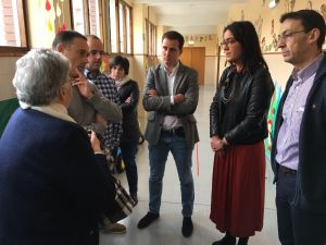 David González Medina, en una visita al Colegio Nazaret de Oviedo.
