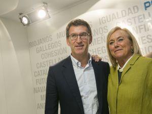 Mercedes Fernández y Alberto Núñez Feijóo.