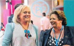 Mercedes Fernández, junto a Rita Barberá en la última convención nacional del PP.