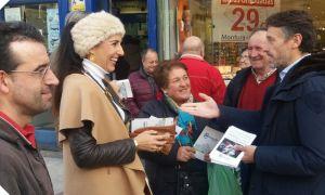 Campaña, en Navia, en defensa de una Sanidad de calidad en el Occidente.