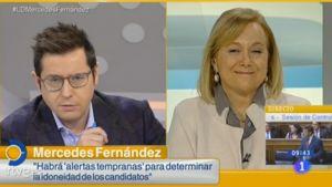 Mercedes Fernández, durante la entrevista.
