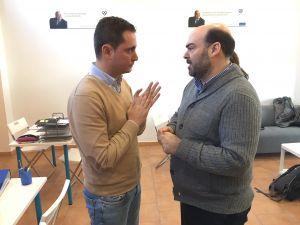 David González Medina y Agustín Iglesias Caunedo, en La Corredoria.