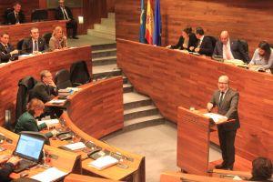 Luis Venta, en la Junta General.