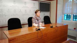 Emma Ramos, durante su rueda de prensa sobre las cláusulas suelo.