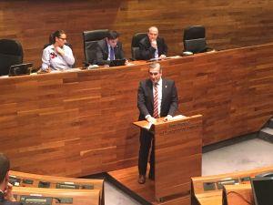 Carlos Suárez, en la Junta General.