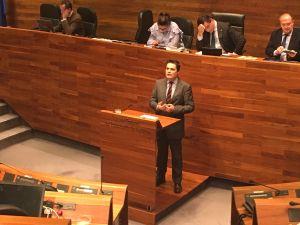 Pedro de Rueda, en el Pleno de la Junta General.