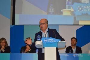 Luis Venta, en el 17 Congreso autonómico del PP.