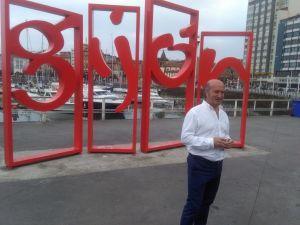 Luis Venta, en Gijón.
