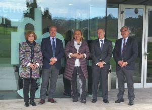 Mercedes Fernández, en Gijón, en el Centro de Innovación de Thyssenkrupp.