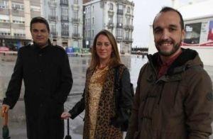 Pedro de Rueda, Reyes Fernández Hurlé y Adolfo Vega, en Avilés.