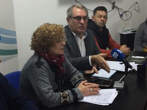 Gloria García y Ramón García Cañal, durante la rueda de prensa en la sede del PP de Mi