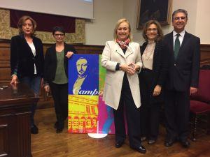 Por la izquierda, María Ablaneso, Teresa Caso, Mercedes Fernández, María Encina Cortizo y Ramón Sobrino.