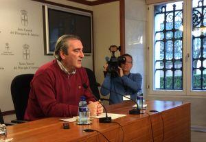 Carlos Suárez, durante su rueda de prensa.