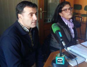 Carmen Pérez García de la Mata y José Luis Fontaniella, durante su entrevista en Onda Cero.