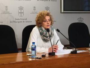 Gloria García, durante la rueda de prensa.