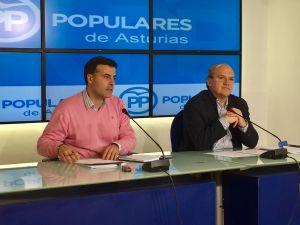 José Luis Fontaniella y José Agustín Cuervas-Mons, durante la rueda de prensa.