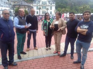 Luis Venta, en su visita a Luarca.