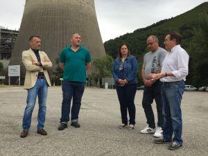 Por la izquierda, Matías Rodríguez Feito, David Rodríguez, Montserrat Fernández, Faustino Menéndez y Rafael Alonso.