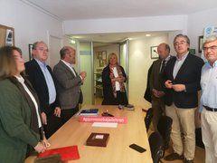 Mercedes Fernández, con el grupo municipal del PP de Gijón