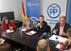 Pedro de Rueda, en la sede del PP de Avilés.