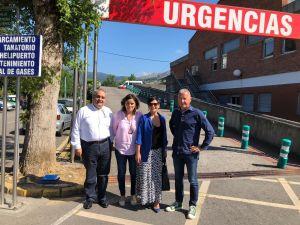 Los diputados Beatriz Polledo, José Manuel Felgueres y Javier Brea en el Hospital del Oriente de Asturias