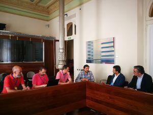 Reunión de los diputados populares con el comite de empresa de Zener